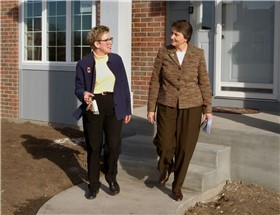 Helen and Sheree at Hogue new construction